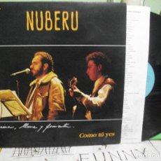 Discos de vinilo: NUBERU - COMO TÚ YES - LP EN CONCIERTU 1991 CON ENCARTE ASTURIAS PEPETO. Lote 144042194