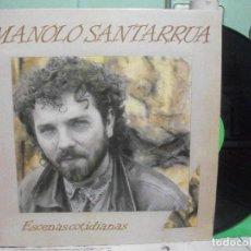 Discos de vinilo: MANOLO SANTARRUA LP ESCENAS COTIDIANAS.1989 ASTURIAS PEPETO. Lote 144043002
