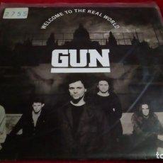 Discos de vinilo: GUN - WELCOME TO THE REAL WORLD. Lote 144069610