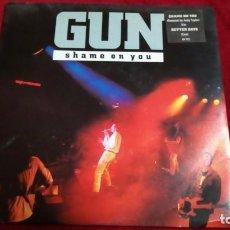 Discos de vinilo: GUN - SHAME ON YOU. Lote 144069962