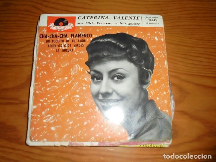 CATERINA VALENTE. CHA-CHA-CHA FLAMENCO + 3. EP. POLYDOR, EDT. FRANCIA (#) (Música - Discos de Vinilo - EPs - Canción Francesa e Italiana)
