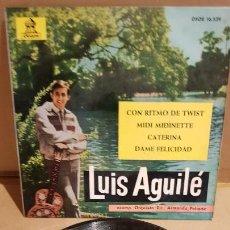 Discos de vinilo: LUIS AGUILÉ / CON RITMO DE TWIST / EP - ODEON - 1963 / MBC. ***/***. Lote 144092162