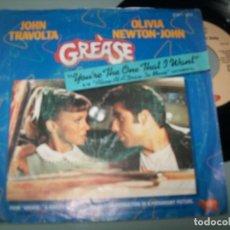 Discos de vinilo: OLIVIA NEWTON JOHN - LOTE DE 2 SINGLES DE GREASE - 1978 ...CON TRAVOLTA. Lote 144096786