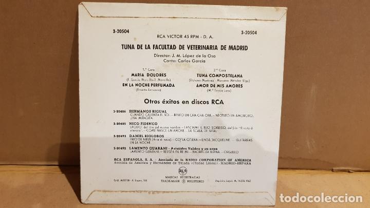 Discos de vinilo: TUNA DE LA FACULTAD DE VETERINARIA DE MADRID / ALEGRE TUNA / EP - RCA-VICTOR / MBC. ***/*** - Foto 2 - 144097238