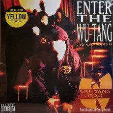 Discos de vinilo: LP WU-TANG CLAN - ENTER THE WU-TANG (36 CHAMBERS) VINILO AMARILLO NUEVO PRECINTADO. Lote 144115830