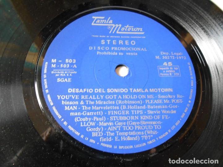 Discos de vinilo: DESAFIO DEL SONIDO - TAMLA MOTOWN -, SG, VARIOS CANTANTES + 1, AÑO 1972 PROMO - Foto 4 - 144130810