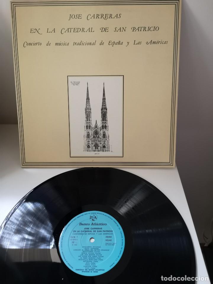 JOSÉ CARRERAS EN LA CATEDRAL DE SAN PATRICIO.CONCIERTO DE MÚSICA (Música - Discos - LP Vinilo - Clásica, Ópera, Zarzuela y Marchas)