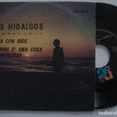 Discos de vinilo: LOS HIDALGOS- L´AMORE UNA COSA MERAVIGLIOSA O.S.T / VAYA CON DIOS - SINGLE ITALIANO 1966 - R.T.CLUB. Lote 144137266