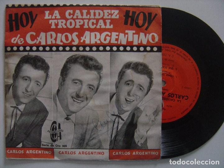 CARLOS ARGENTINO - CHINO LI WONG - EP ARGENTINA - PRODUCIONES CA - SONORA MATANCERA (Música - Discos de Vinilo - EPs - Grupos y Solistas de latinoamérica)