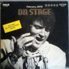Discos de vinilo: ELVIS PRESLEY. ON STAGE. RCA, USA 1970 LP (LSP-4362). Lote 144157138