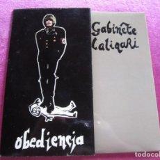 Discos de vinilo: GABINETE CALIGARI OBEDIENCIA Y NADA MÁS SINGLE. Lote 144184198
