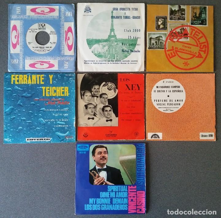LOTE SINGLES ORQUESTAS RIZ ORTOLANI GRAN ORQUESTA TITAN EL FILATELISTA FERRANTE Y TEICHER LOS XEY (Música - Discos de Vinilo - EPs - Orquestas)