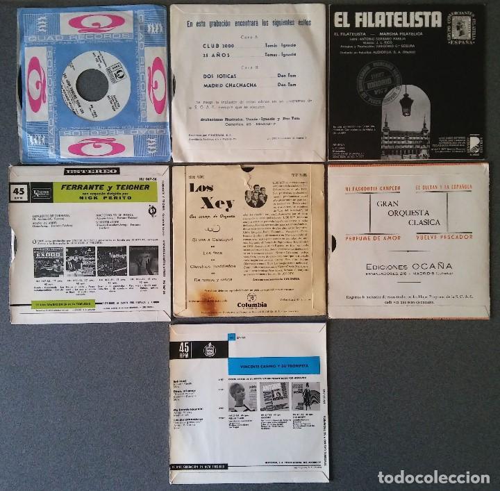 Discos de vinilo: Lote singles orquestas Riz Ortolani Gran Orquesta Titan El Filatelista Ferrante y Teicher Los Xey - Foto 3 - 144191394