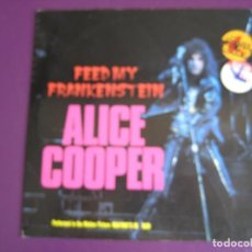 Discos de vinilo: ALICE COOPER SG EPIC 1992 - FEED MY FRANKENSTEIN/ BURNING OUR RED - HEAVY METAL BSO WAYNE'S WORLD . Lote 146190294