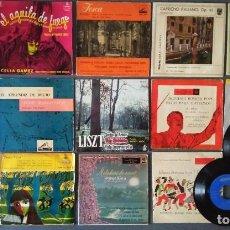 Discos de vinilo: LOTE SINGLES ORQUESTAS MUSICA CLÁSICA CHUECA CELIA GAMEZ PUCCINI TCHAIKOVSKI ARTURO TOSCANI. Lote 144194222