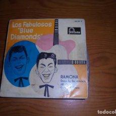 Discos de vinilo: LOS FABULOSOS BLUE DIAMONDS. RAMONA + 3. EP. FONTANA, 1960 (#). Lote 144213334