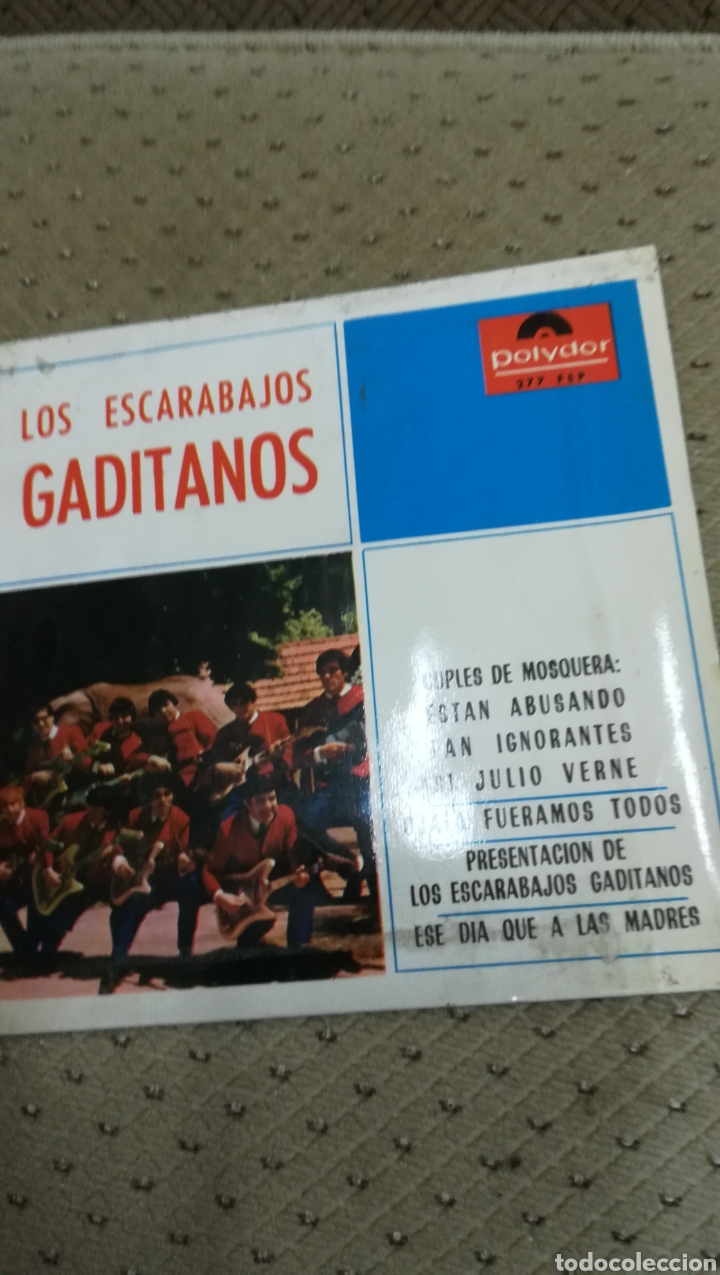 VINILO DE LOS ESCARABAJOS GADITANOS (Música - Discos de Vinilo - Maxi Singles - Grupos Españoles 50 y 60)