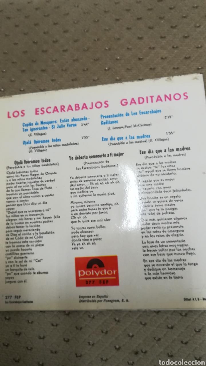 Discos de vinilo: Vinilo de Los Escarabajos gaditanos - Foto 2 - 144223402