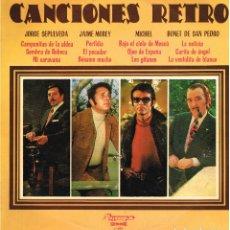 Discos de vinilo: JORGE SEPULVEDA / JAIME MOREY / MICHEL / BONET DE SAN PEDRO - CANCIONES RETRO - LP 1975. Lote 144273346