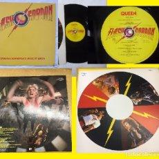 Discos de vinilo: QUEEN / FLASH GORDON 1980 !! FREDDIE MERCURY, RARA 1ª EDICION ORG UK + ENCARTE, 1º PRESS !! EXC. Lote 144284126