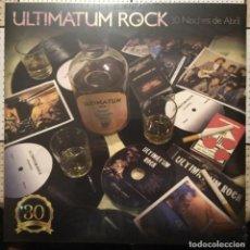 Discos de vinilo: ULTIMATUM ROCK - 30 NOCHES DE ABRIL (2017) LP+CD HARD ROCK BARCELONA. Lote 144290330