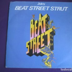 Discos de vinilo: JUICY SG WEA 1984 PROMOCIONAL - BEAT STREET STRUT +1 HIP HOP RAP - CINE BSO OST . Lote 144315058