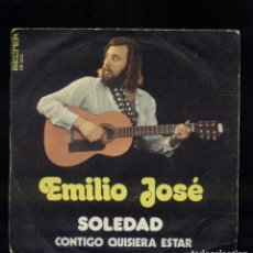 Discos de vinilo: EMILIO JOSÉ 45RPM SOLEDAD . Lote 144322202