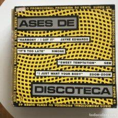 Discos de vinilo: VV.AA. - ASES DE DISCOTECA - 12'' MAXISINGLE ZAFIRO 1984 - JAYNE EDWARDS, SIMONE, GEM, ZOOM-ZOOM. Lote 144339722