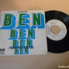 Discos de vinilo: NUEVAS IDEAS SINGLE PROMOCIONAL DEL TEMA BEN. Lote 144354586