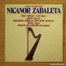 Vinyl records - NICANOR ZABALETA - MUSICA DEL SIGLO XVIII - LP - 144371741