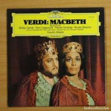 Discos de vinilo: VERDI - MACBETH - LP. Lote 144374902