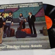 Discos de vinilo: QUARTET TARRAGÓ- MÚSICA ESPAÑOLA CONTEMPORÁNEA PARA 4 GUITARRAS - LP 1976. Lote 144376458