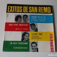 Discos de vinilo: APRIL STEVENS Y NINO TEMPO*, BEN E. KING, FRIDA BOCCARA, TORREBRUNO ?– EXITOS DE SAN REMO BELTER. Lote 144396930