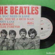 Discos de vinilo: THE BEATLES ALL YOU NEED IS LOVE + 3 EP BRASIL 1967 PEPETO TOP. Lote 144398314