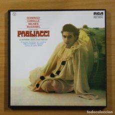 Discos de vinilo: DOMINGO / CABALLE / MILNES / MCDANIEL - PAGLIACCI - BOX 2 LP. Lote 144398893