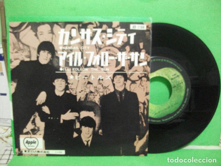 THE BEATLES KANSAS CITY/I'LL FOLLOW THE SUN SINGLE JAPON 1976 PEPETO TOP (Música - Discos - Singles Vinilo - Pop - Rock - Extranjero de los 70)