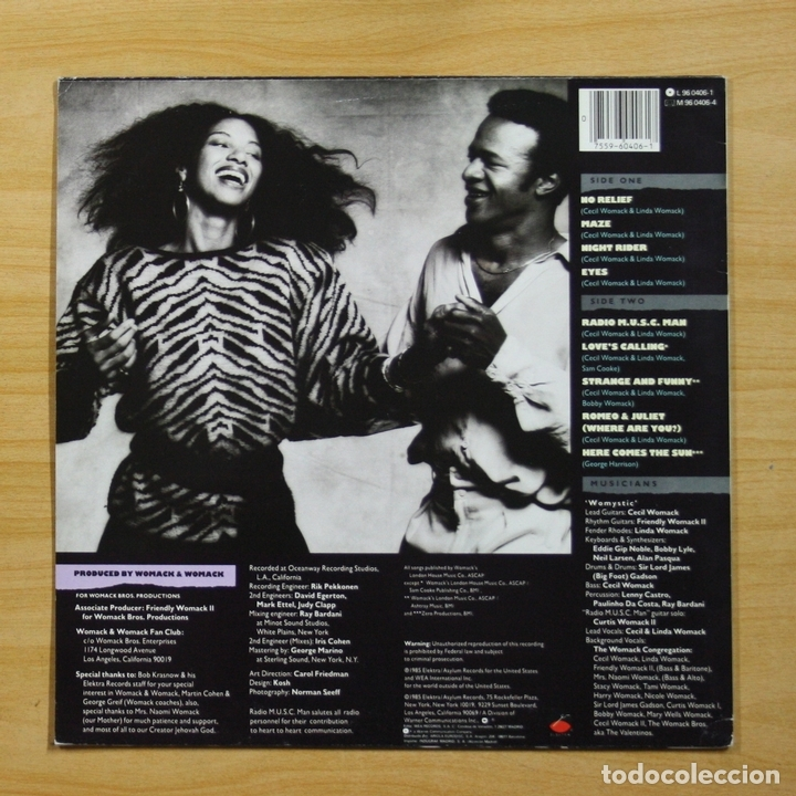 WOMACK & WOMACK - RADIO M U S C  MAN - LP