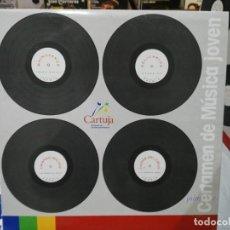 Discos de vinilo: CERTAMEN DE MÚSICA JOVEN - RHINOEROS / RELICARIOS / CAÍDOS DEL CIELO / CRIANDO MALVAS - MAXI 1994. Lote 220092481