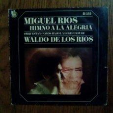 Discos de vinilo: MIGUEL RIOS - HIMNO A LA ALEGRIA, 1969, HISPAVOX. SPAIN.. Lote 144464816