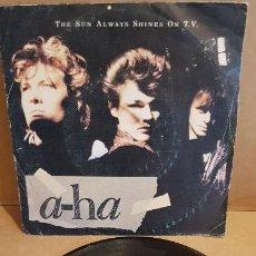 Discos de vinilo: A-HA / THE SUN ALWAYS SHINES ON T.V. / SINGLE / WARNES BROS-1985 / MBC. ***/***. Lote 144467590