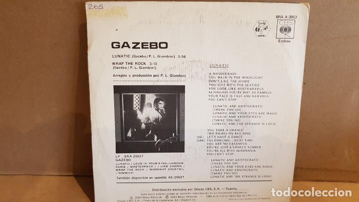 Discos de vinilo: GAZEBO / LUNATIC / SINGLE-BABY RECORDS - 1983 / MBC. ***/*** - Foto 2 - 189155462