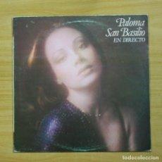Discos de vinilo: PALOMA SAN BASILIO - EN DIRECTO - LP. Lote 144475733