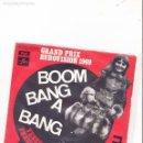 Discos de vinilo: 45 GIRI SINGLE LULU BOOM BANG A BANG UK GRAND PRIX EUROVISION FRENCH VERSION. Lote 144479842
