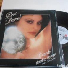 Discos de vinilo: ROCIO DURCAL-LP CUANDO DECIDAS VOLVER. Lote 144480790