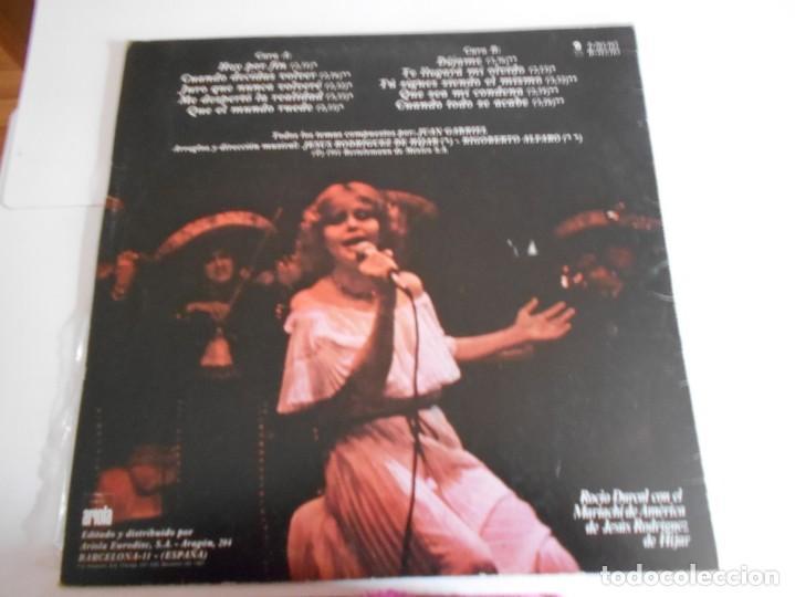 Discos de vinilo: ROCIO DURCAL-LP CUANDO DECIDAS VOLVER - Foto 2 - 144480790