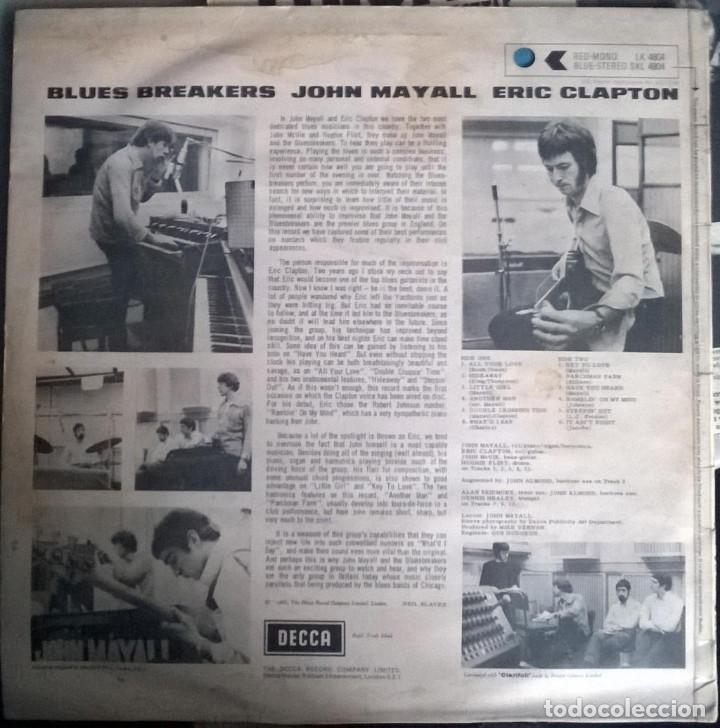 Discos de vinilo: John Mayall. Blues Breakers With Eric Clapton. Decca, UK 1966 LP SKL 4804 stereo - Foto 2 - 144488466