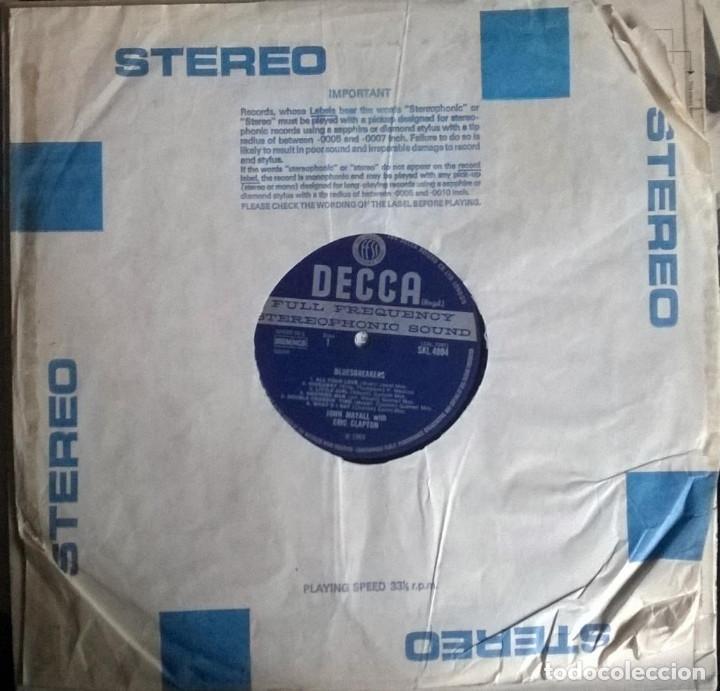Discos de vinilo: John Mayall. Blues Breakers With Eric Clapton. Decca, UK 1966 LP SKL 4804 stereo - Foto 3 - 144488466