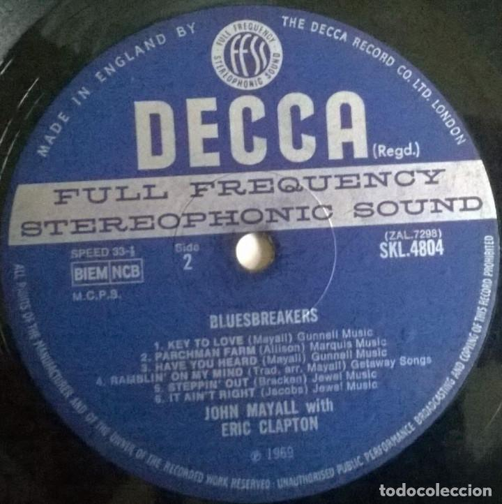 Discos de vinilo: John Mayall. Blues Breakers With Eric Clapton. Decca, UK 1966 LP SKL 4804 stereo - Foto 4 - 144488466
