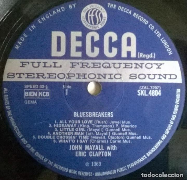 Discos de vinilo: John Mayall. Blues Breakers With Eric Clapton. Decca, UK 1966 LP SKL 4804 stereo - Foto 5 - 144488466