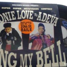 Discos de vinilo: SINGLE (VINILO) DE MONIE LOVE VS ADEVA AÑOS 90. Lote 144492406